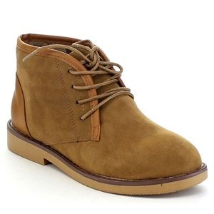 Faux Suede Soft Lace-up Chukka Boots